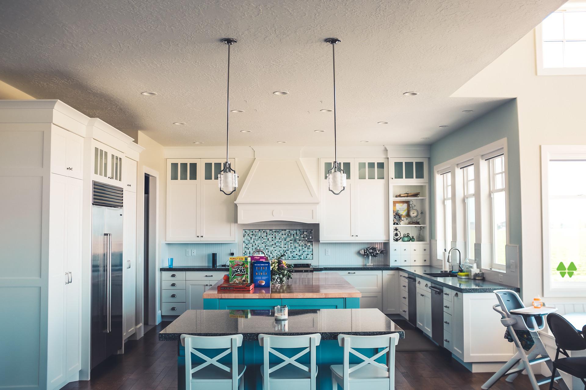 Clean and organized modern kitchen.